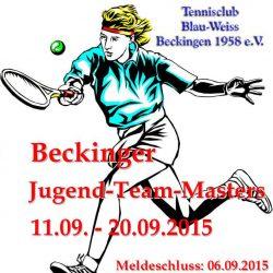 Jugend Team Masters<br> 11.- 13.09. &#038; 18. &#8211; 20.09.<br> Meldeschluss: 06.09.