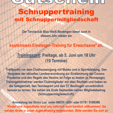 Schnuppertraining 2020